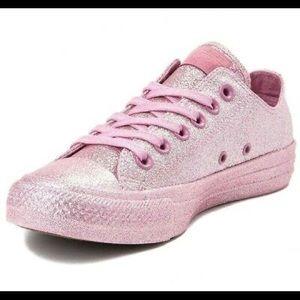 Pink Glitter Converses 💕MAKE ME AN OFFER💕